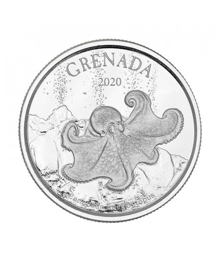 1oz Octopus Silver Coin from 2020