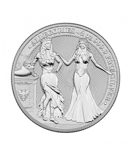 2oz Italia & Germania Silver Coin from 2020 - The Allegories serie